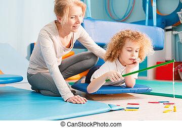 kind, sitzung, haben, integration, sensorisch
