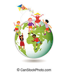 Kinder auf der ganzen Welt