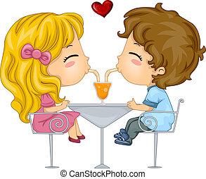 Kinder auf einem Date
