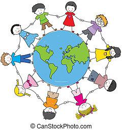 Kinder aus verschiedenen Kulturen