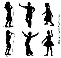 Kinder, die tanzen
