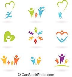 Kinder, Familie und gemeinschaftliche Ikone