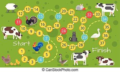 Kinder-Farm-Spielvorlage
