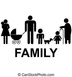 kinder, großeltern, ikone, familie, eltern