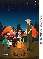 Kinder im Sommercamp.