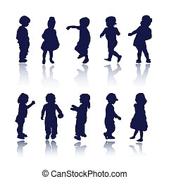 Kinder, Kinder, kleine Silhouette