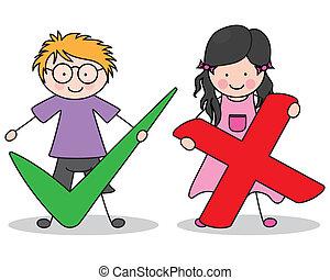 Kinder mit Schildern