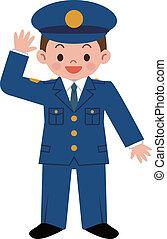 kinder, polizeibeamter