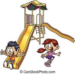 Kinder spielen