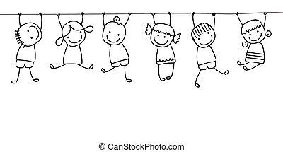 kinder, spielende , glücklich