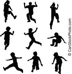 Kinder springen