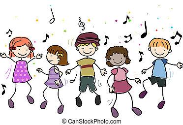 kinder, tanzen