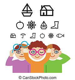 Kinder- und Optiktest