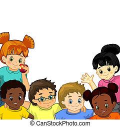 Kinder weißer Hintergrund.