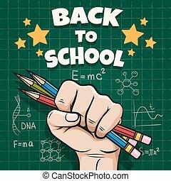 Kinder zurück zum Schulposter
