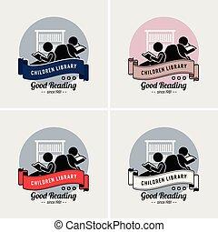 Kinderbuch-Logodesign.