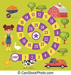 Kinderfarm-Spiel