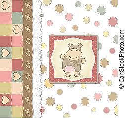 Kindermädchen-Duschekarte.