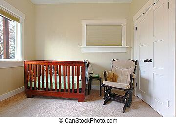 Kinderzimmer mit einfacher Ausstattung