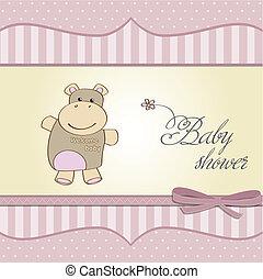 Kindische Babyparty-Karte