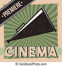 Kino-Premiere-Poster-Director Lautsprecher.