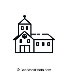 kirche, katholik, design, symbol, christ, vektor