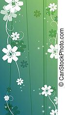 Kirschblüte und Rebenmuster