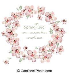 Kirschblütenblüten. Vector Illustration. Dekor zum Hochzeitstag, Hochzeit, Geburtstag, Veranstaltungen.