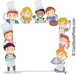 klassen, kochen, brett