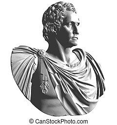 klassisch, marble..., brustbild, antikes