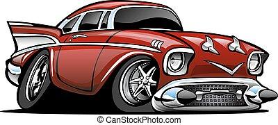 Klassische amerikanische Hot Rod Cartoon il