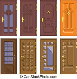 Klassische Innen- und Vordertüren - Vektor