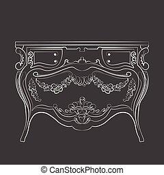 Klassische Kommode-Möbel