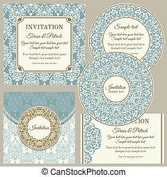 Klassische Visitenkarten oder Einladungen.