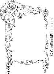 Klassischer Blumenrahmen