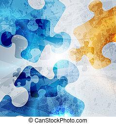 Klassischer Firmenhintergrund. Entfernen Sie Rätselformen farbenfrohen Vektoren