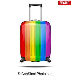 Klassischer Regenbogen-Plastik Koffer für Luft- oder Straßenreisen