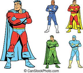 Klassischer Superheld und cooler Variatio