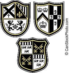 Klassisches heralisches Emblem crest Shiel