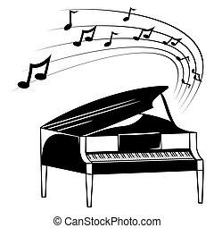 Klavier- und Musiknotizen.