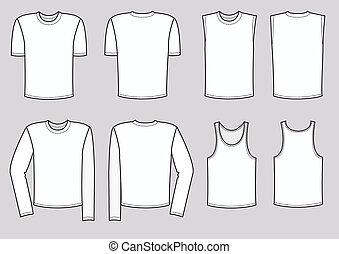 Kleider für Männer. Vektorkleidung