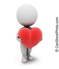 klein, people-heart, 3d