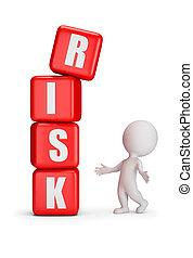 klein, -, risiko, leute, 3d