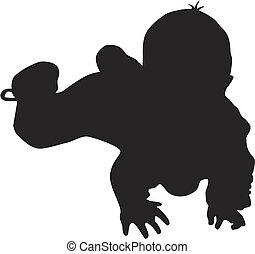 Kleine Baby-Silhouette