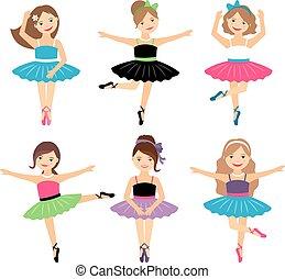 Kleine Ballerina-Mädchen bereit