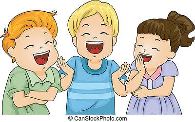 Kleine Kinder lachen