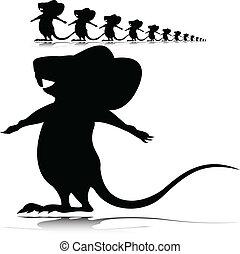 Kleine Mausvektor-Silhouette