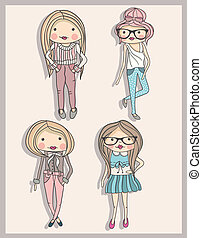 Kleine Modemädchen