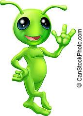 Kleiner grüner Mann Alien