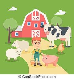 Kleiner Kaukasus mit Bauerntieren.
